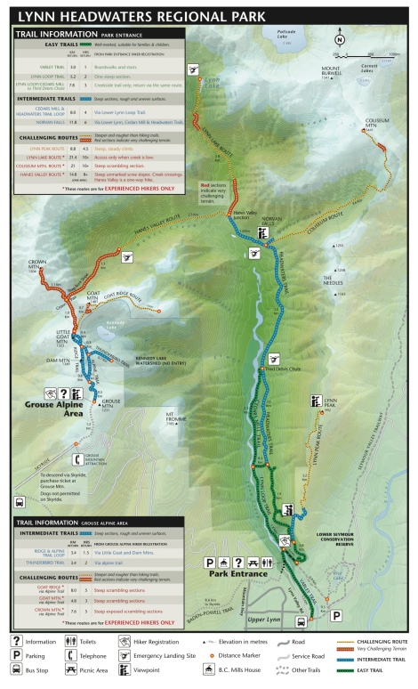 Lynn Headwaters Trail Map