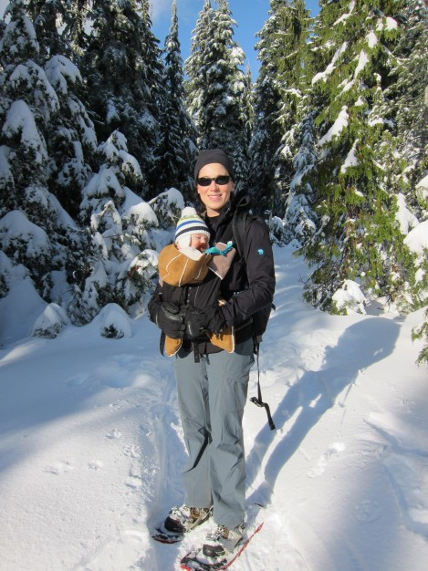 A beautiful day for snowshoeing!