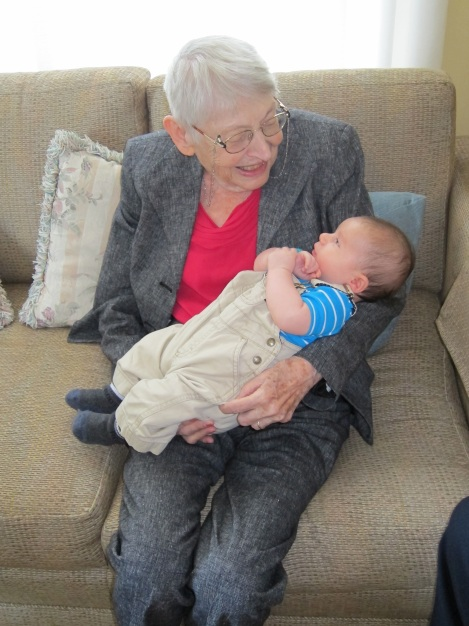 Oliver and his great-grandmother (my grandmother) -- an amazing woman, who will be sorely missed by all of us.