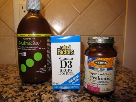 Fish oil, Vitamin D and Probiotics