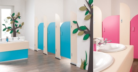 What Oliver's daycare washrooms *don't* look like. www.washroomcubicles.co.uk