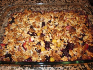 Mmm... Paleo fruit crumble!