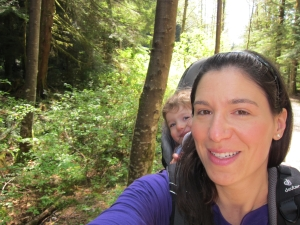 Our inaugural summer hike, last Friday, at Lynn Headwaters Regional Park.