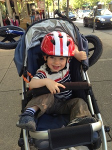 Bonus: It fits on the stroller when he gets too tired to ride.