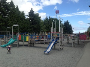 An amazing children's adventure playground in Nanaimo Harbour.