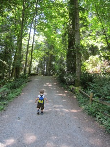 Our ninth hike: Lighthouse Park in West Vancouver.