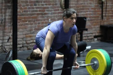Deadlifting 285 lbs at 40 weeks pregnant.